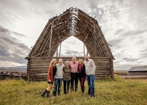 Family and Barn